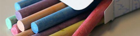 Chalk sticks and chalk markers
